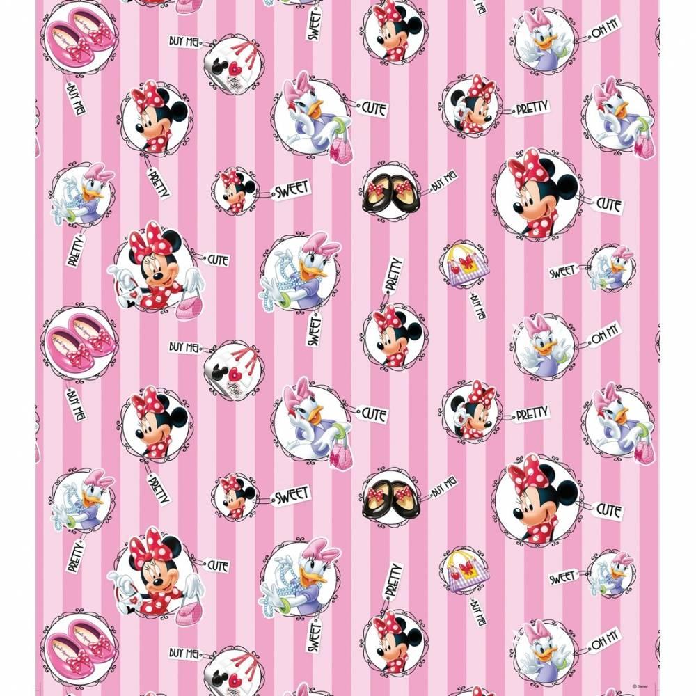 AG Art Detská fototapeta Minnie Mouse a Daisy, 53 x 1005 cm