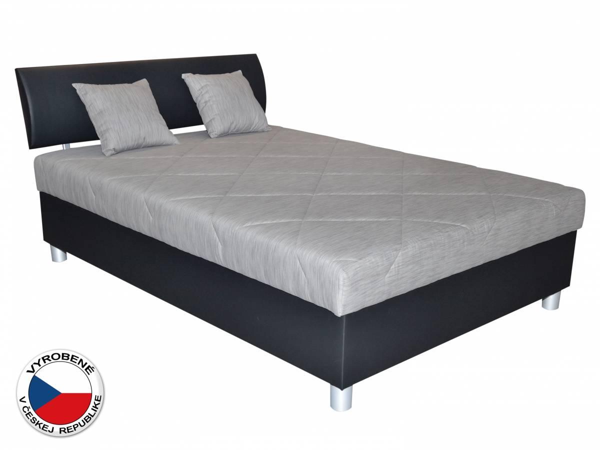 Manželská posteľ 120 cm Blanár Skate (sivá + čierna) (s roštom a matracom)