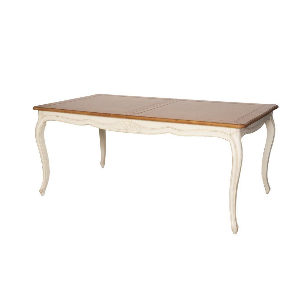 Krémový rozkladací jedálenský stôl z brezového dreva Livin Hill Verona