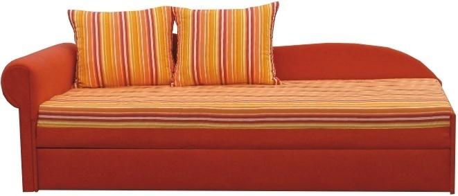 Rozkladacia pohovka, oranžová, ľavá, AGA D
