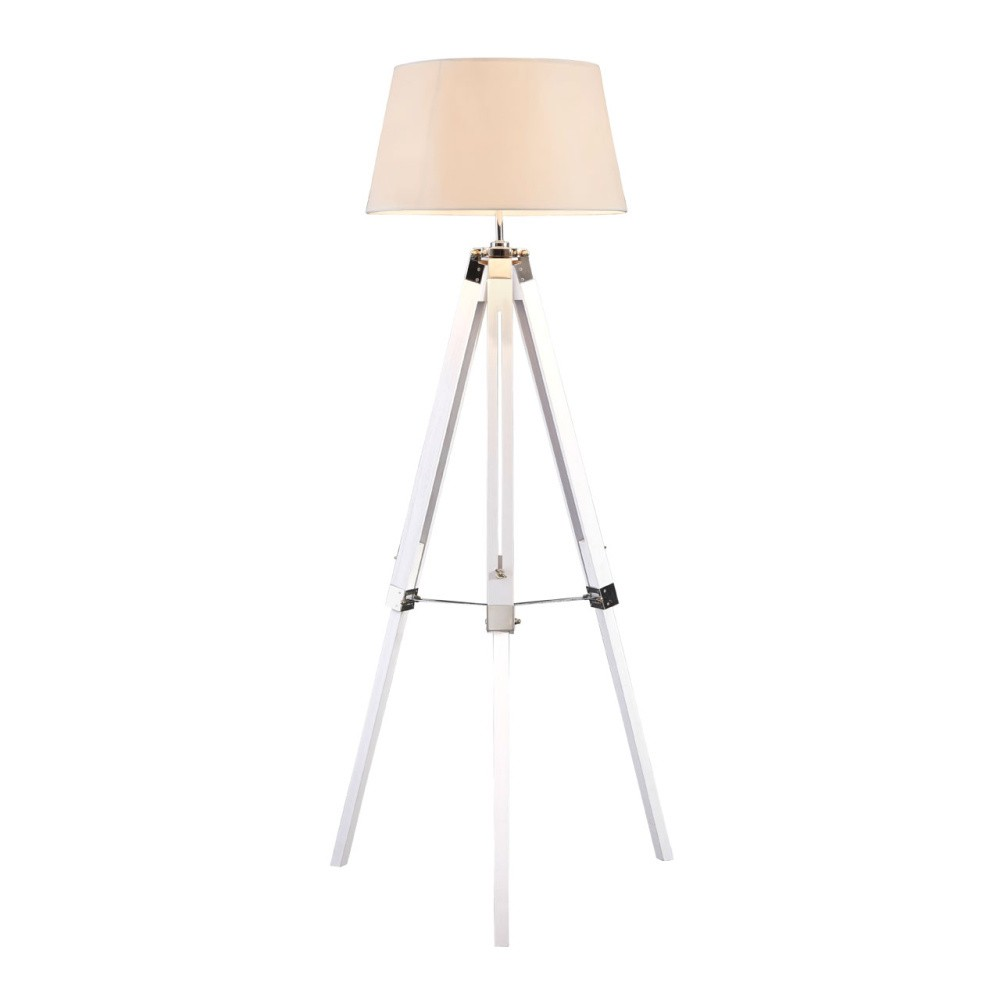 Biela stojacia lampa Premier Housewares Bailey