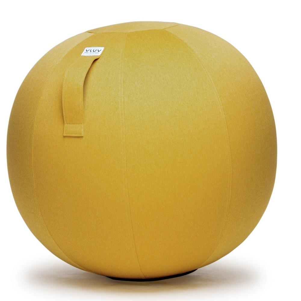 Žltá lopta na sedenie VLUV Leiva, Ø70-75cm