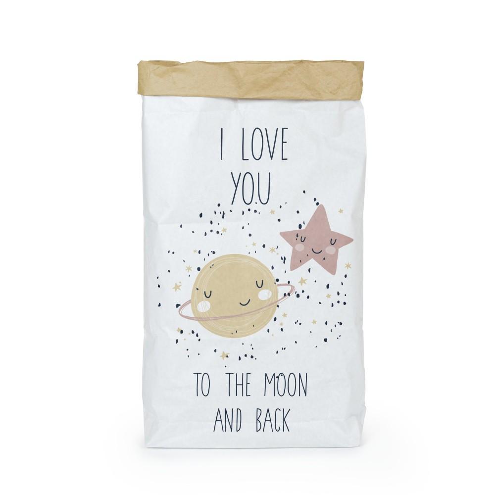 Organizér z recyklovaného papiera Tanuki Love You To The Moon