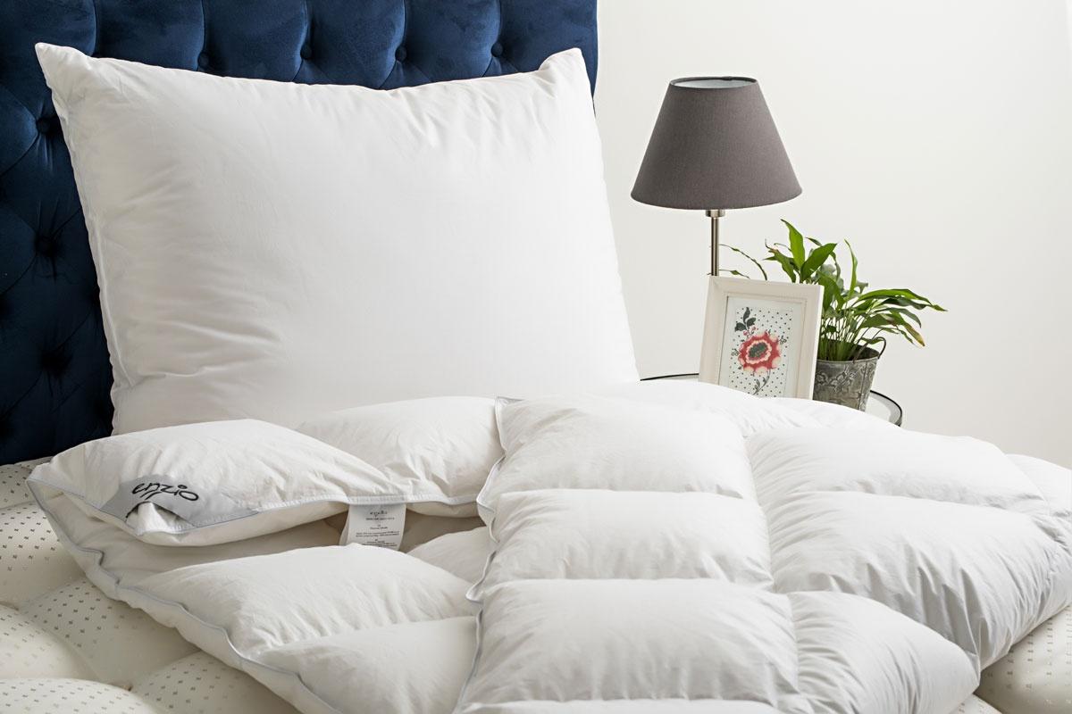 Enzio White Royal - unikátny prikrývka sa 100% páperím vankúš 70x90 cm