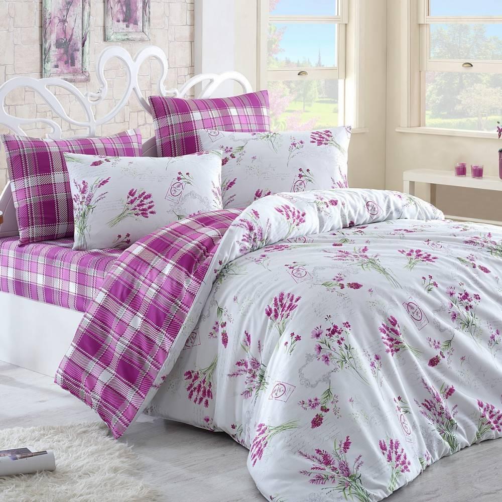 Night in Colours Bavlnené obliečky Lavente ružová, 220 x 200 cm, 2 ks 70 x 90 cm