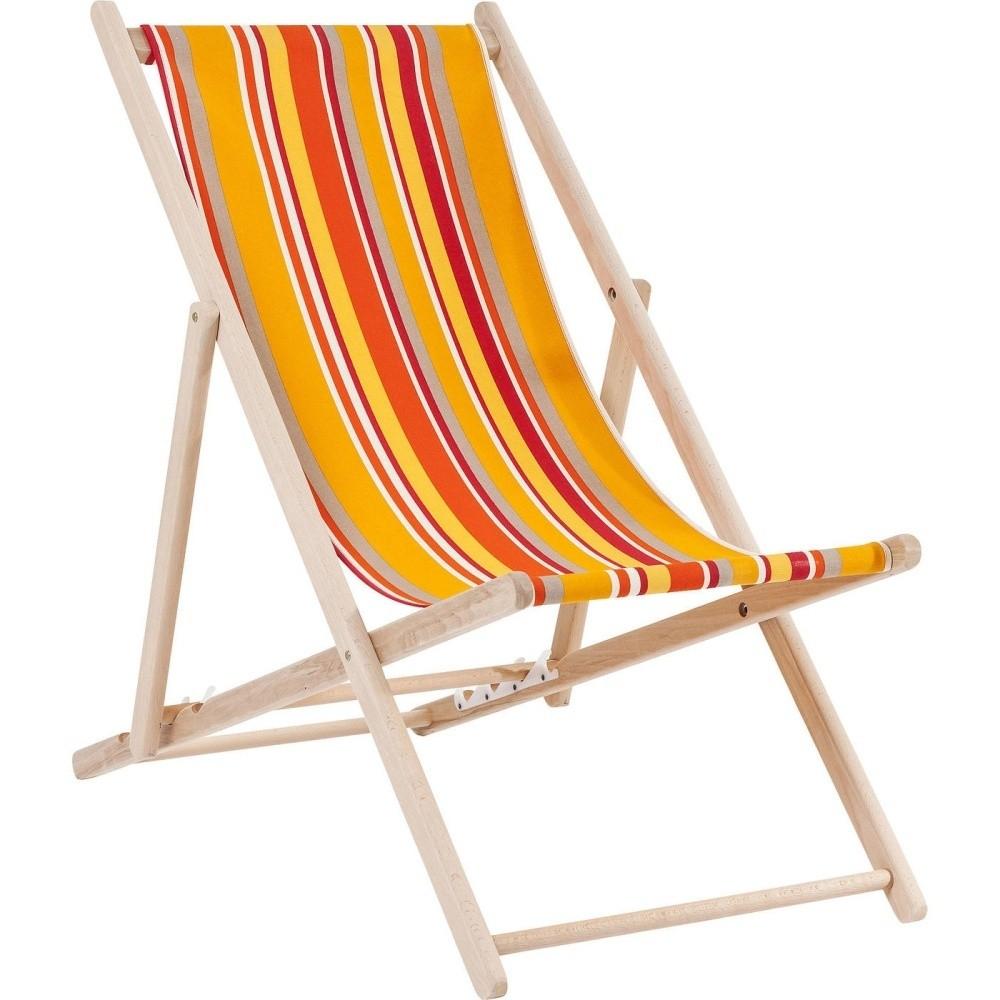 Oranžové pruhované ležadlo Kare Design Summer