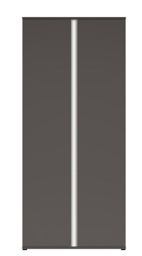 Šatníková skriňa Graphic REG2D/86/C   Farba: sivý wolfram