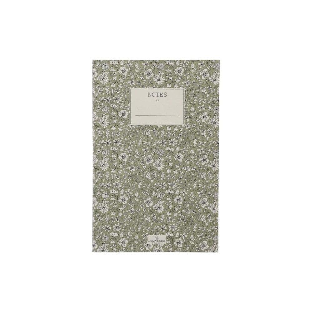 Zápisník A Simple Mess Nynne Khaki, 21×14 cm