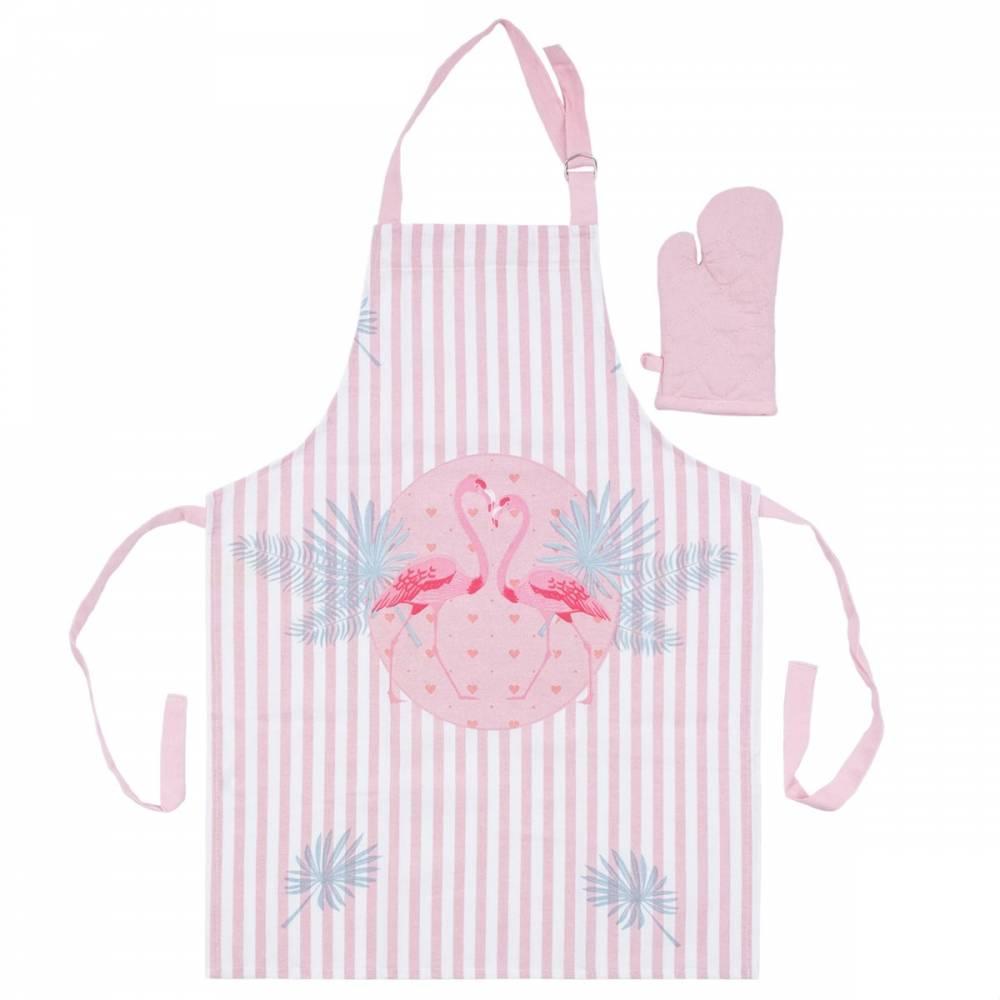 Trade Concept Detská kuchynská súprava Plameniak ružová