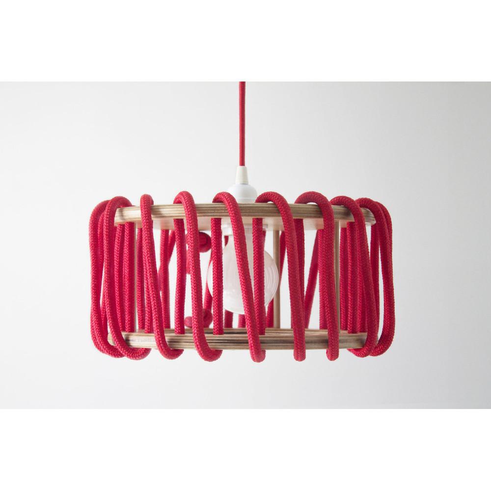 Červené stropné svietidlo Emko Macaron, 30 cm