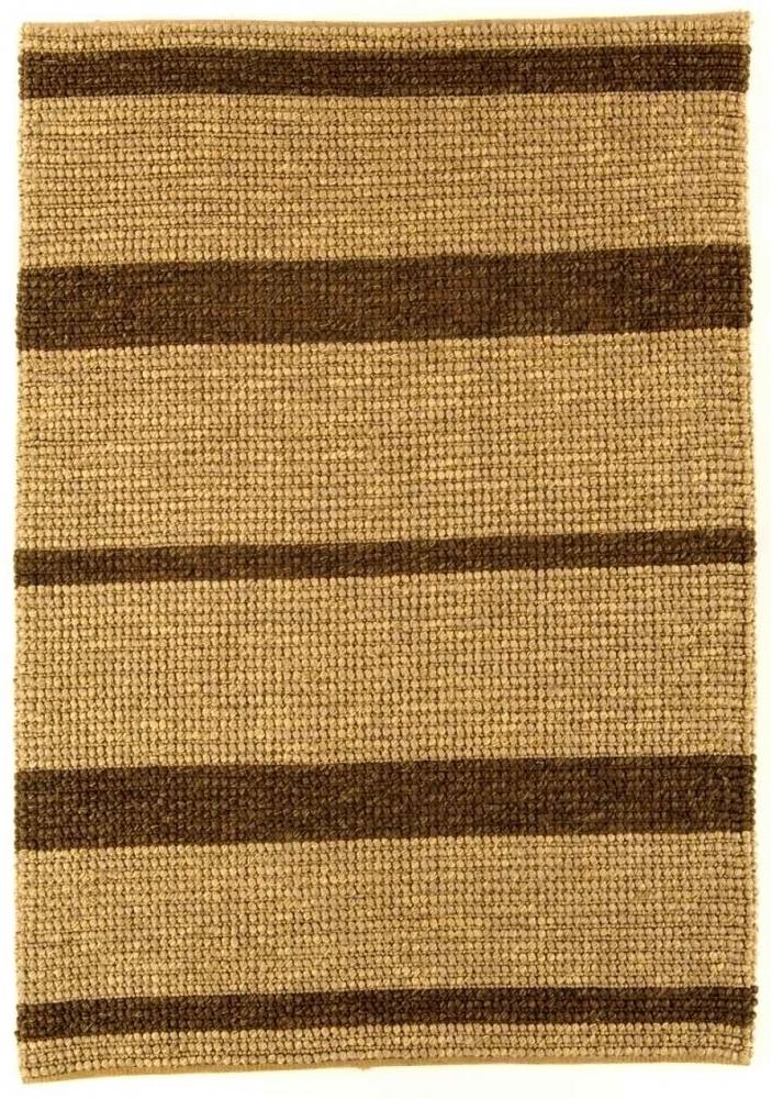 Jute Loop koberec - prírodná/hnedá pásikovaná