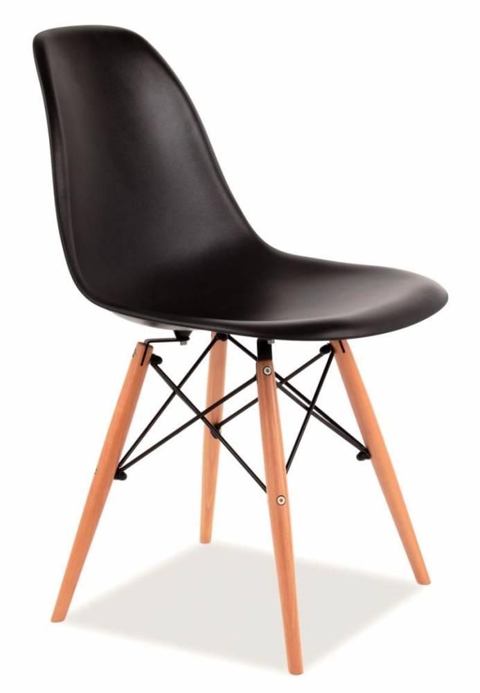 SIGNAL ENZO jedálenská stolička - buk / čierna