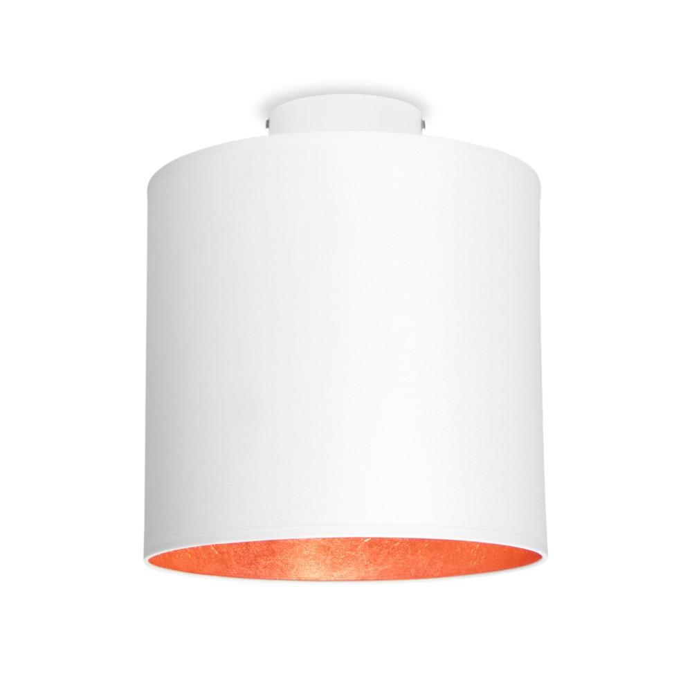 Biele stropné svietidlo s detailom v medenej farbe Sotto Luce MIKA Elementary S PLUS CP