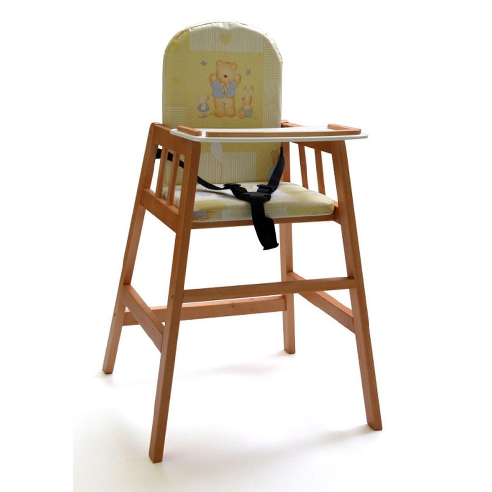 Hnedá drevená detská jedálenská stolička Faktum Abigel