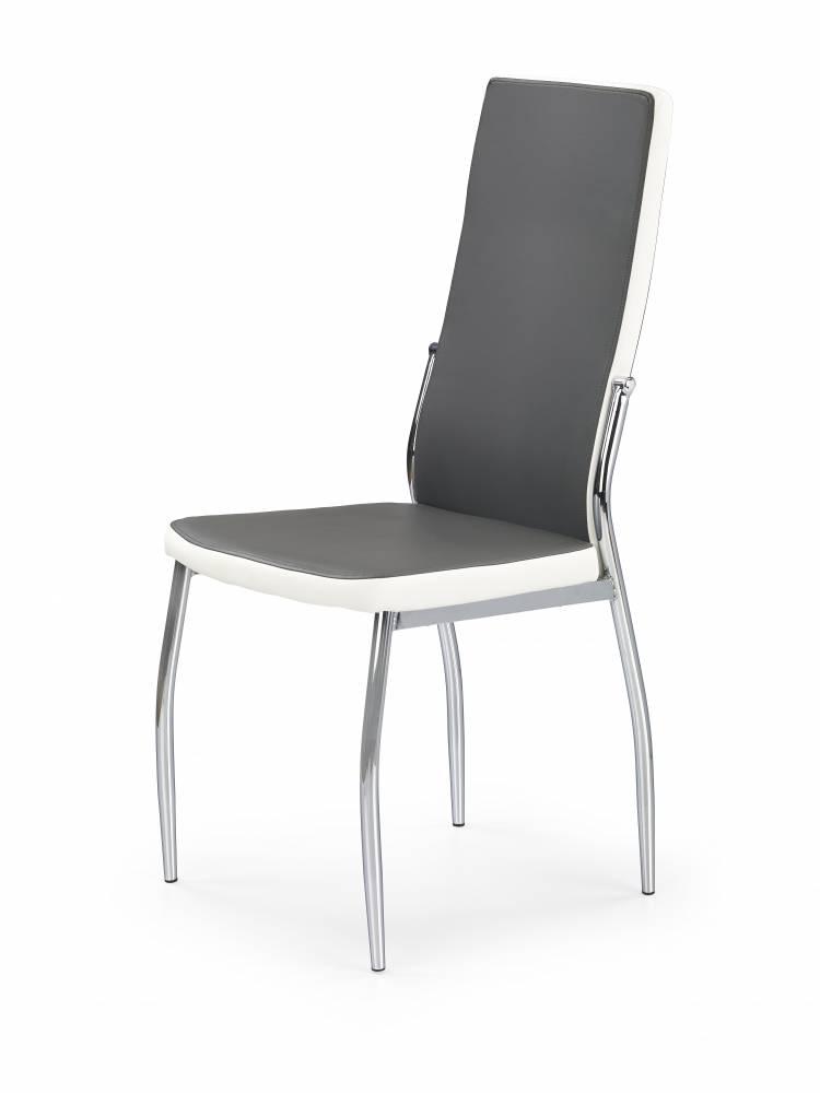 Jedálenská stolička K210 (sivá + biela)