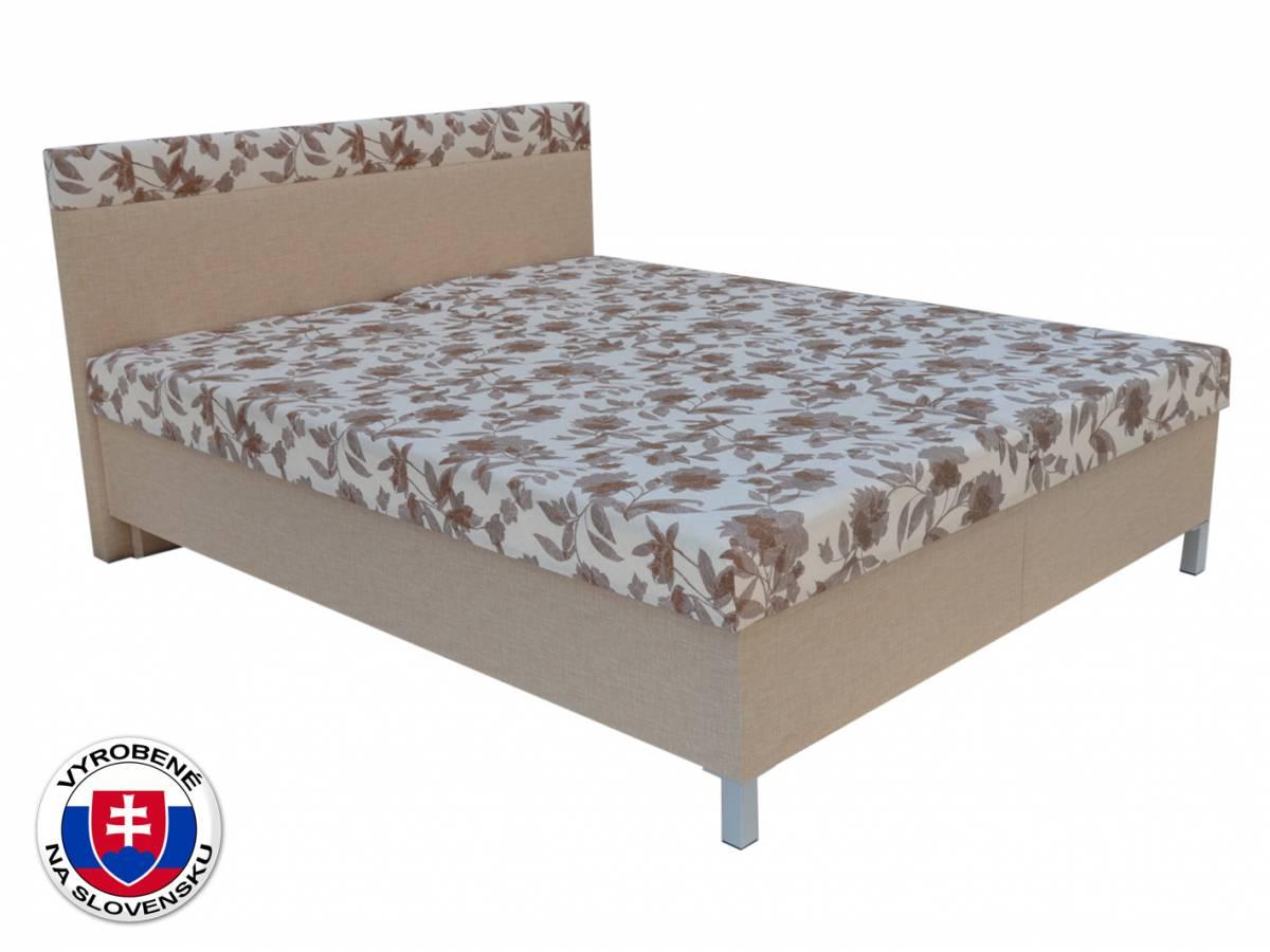 Manželská posteľ 160 cm Agata (béžová) (s roštami a matracmi)