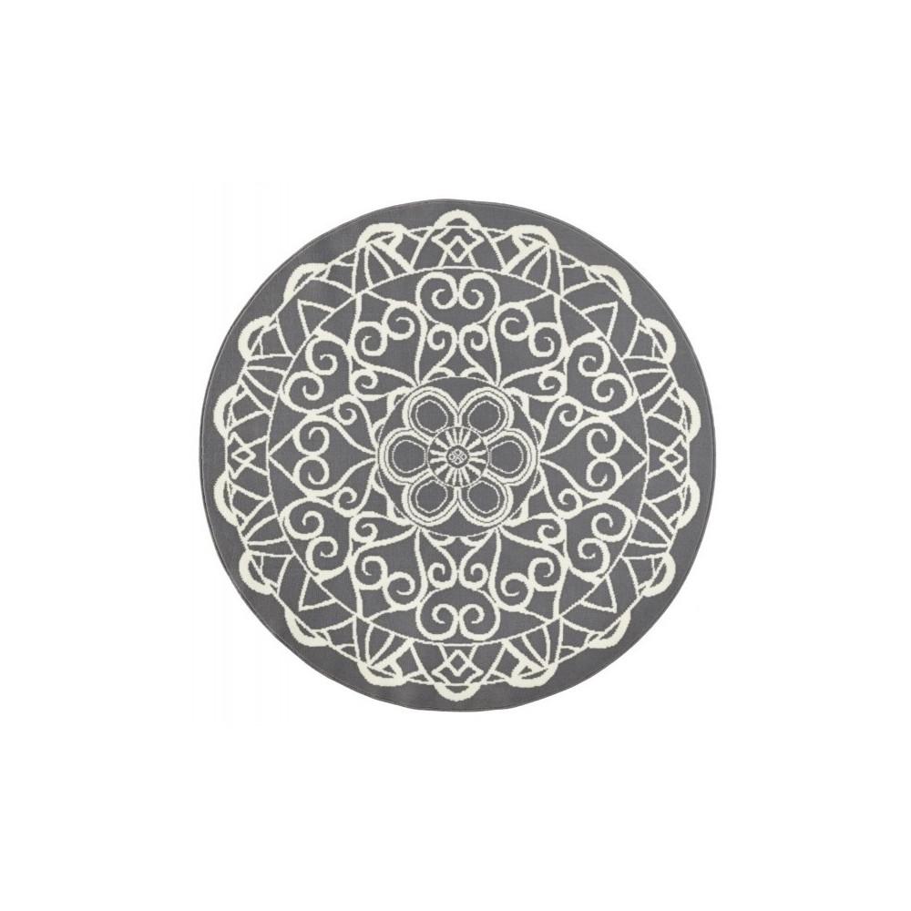 Sivý okrúhly koberec Zala Living Capri, ø 140cm
