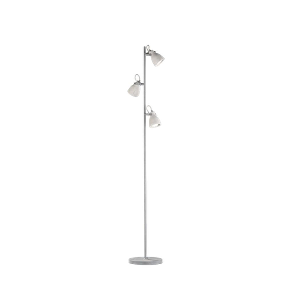 Sivá stojacia lampa Trio Concrete, výška 1,6 m