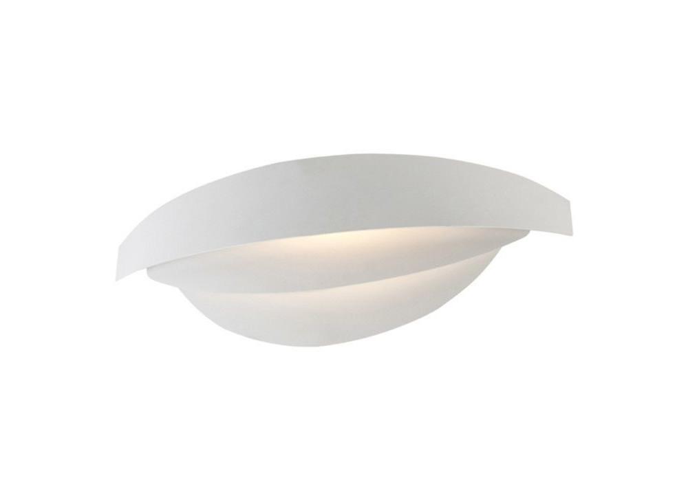 Biele nástenné svietidlo Mask, 30 x 9 cm