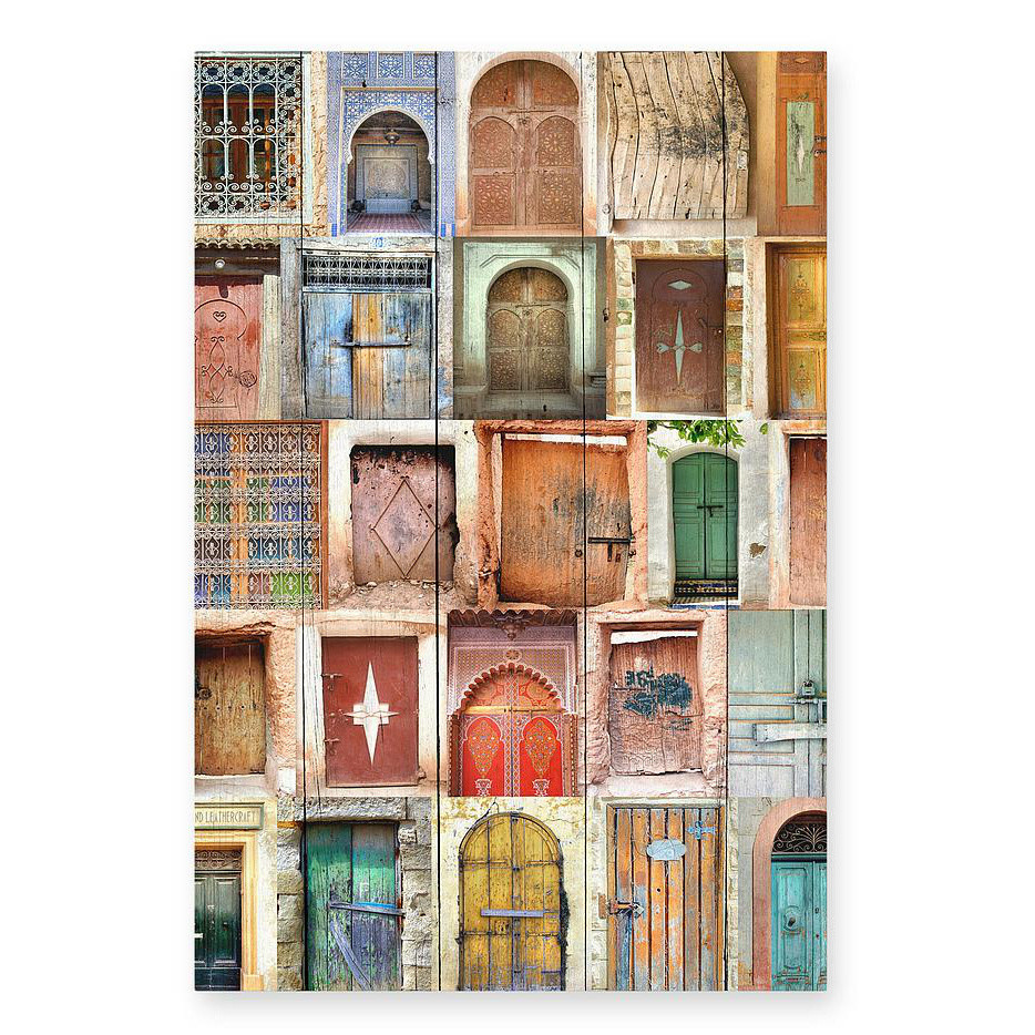 Drevená ceduľa Really Nice Things Doors, 40x60cm