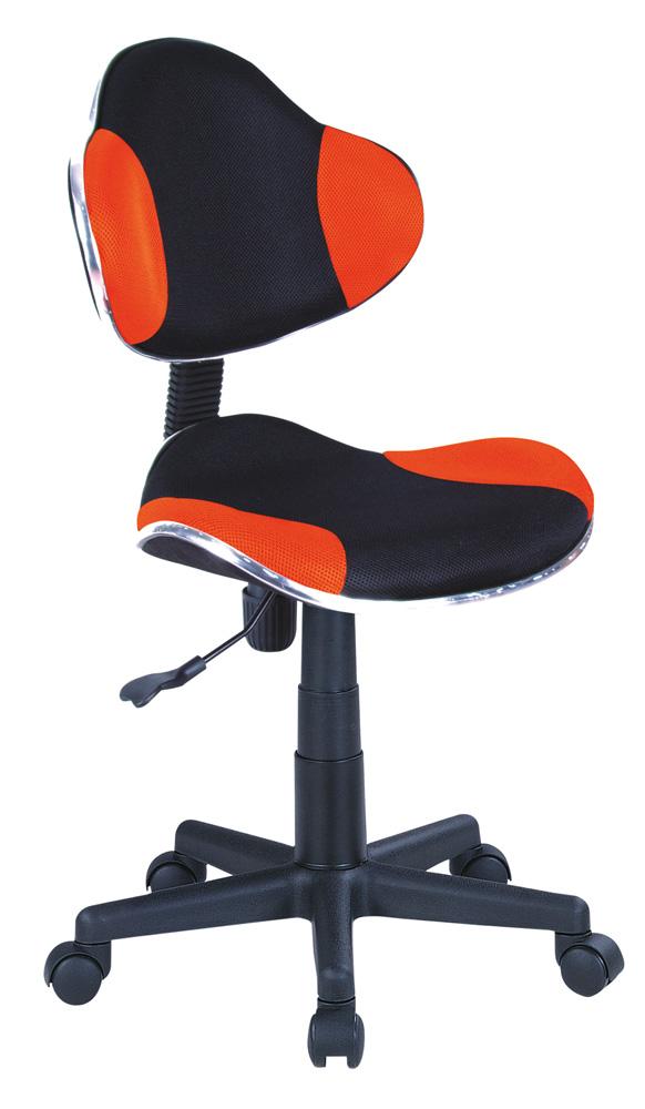 Detská stolička Q-G2 látka, oranžovo-čierna