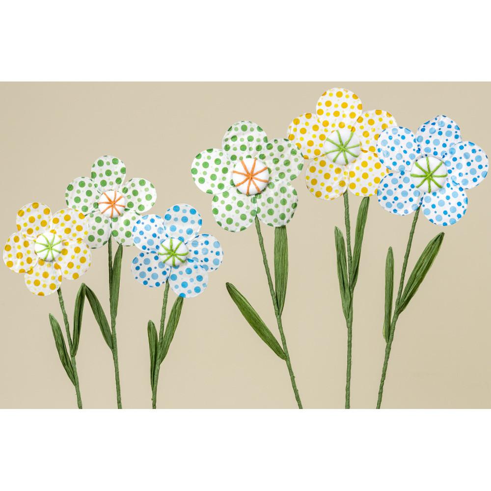 Sada 3 dekoratívnych papierových kvetín Boltze Dots