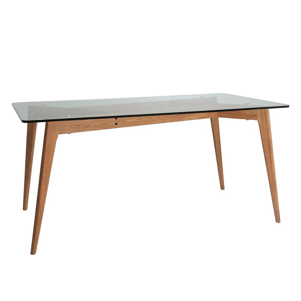Jedálenský stôl s hnedýma nohami Marckeric Janis, 160 x 90 cm