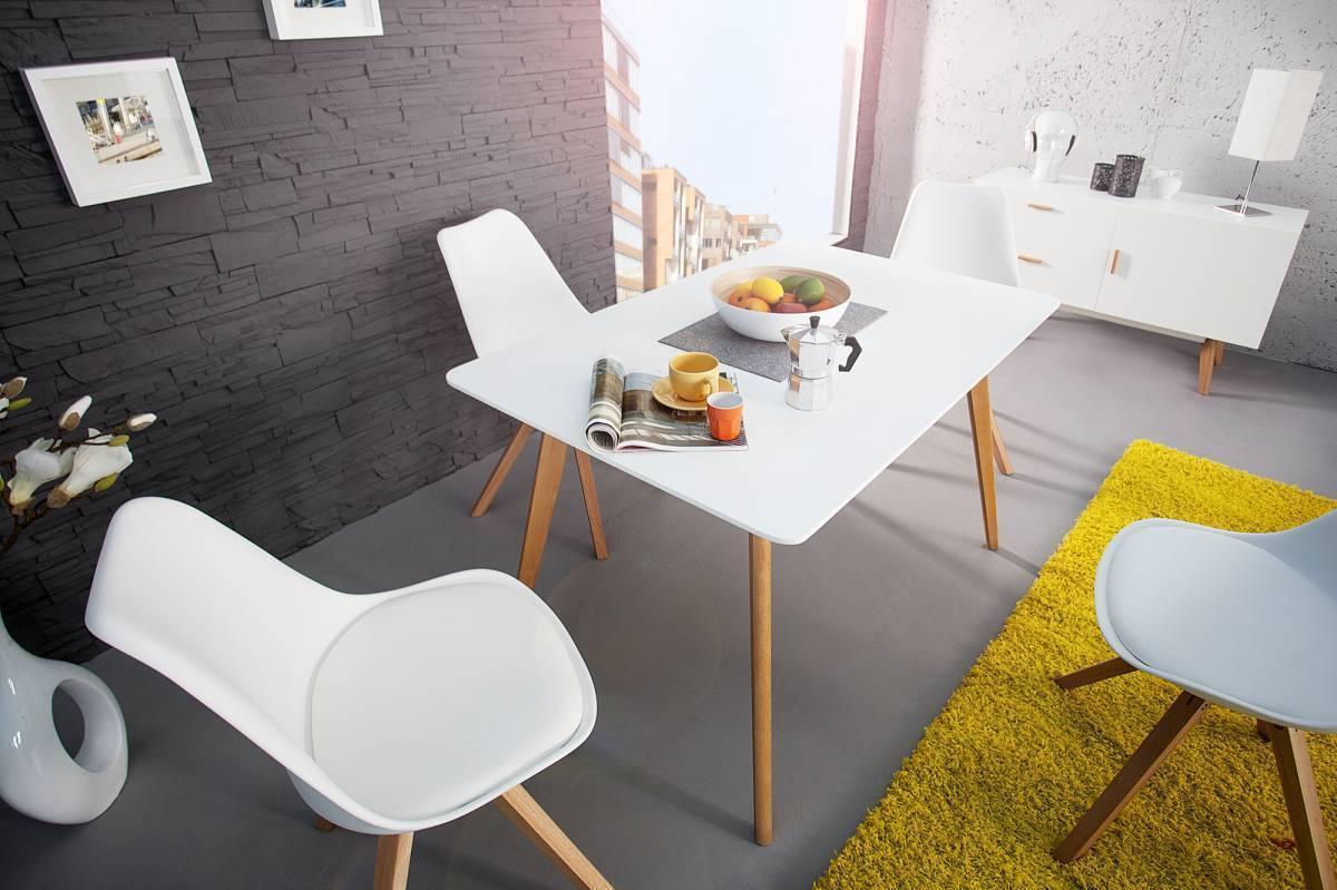 Jedálenský stôl SCANIA MEISTER 120cm - biela