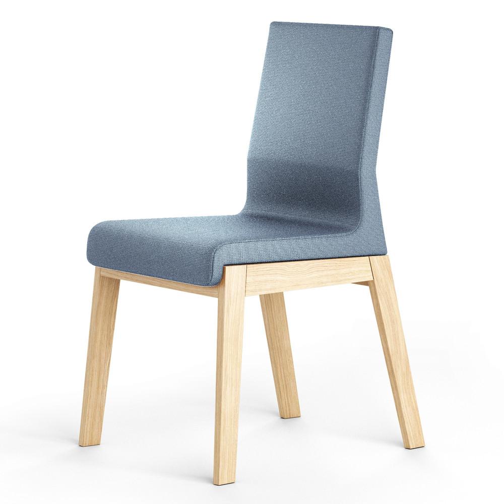 Modrá stolička z dubového dreva Absynth Kyla