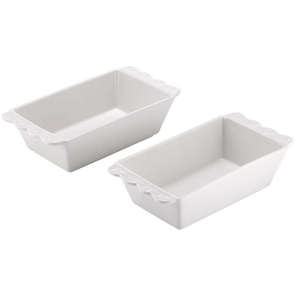 Sada 2 bielych porcelánových foriem napečenie Ladelle Bake