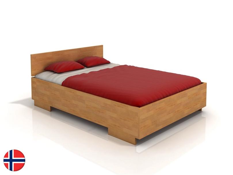 Manželská posteľ 200 cm Naturlig Larsos High (buk) (s roštom)