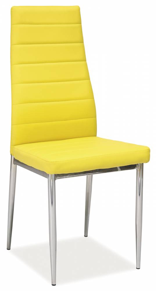 Jedálenská stolička H-261 (ekokoža žltá)