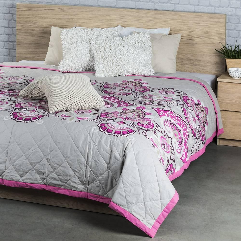 Prehoz na posteľ Laissa ružová, 240 x 200 cm
