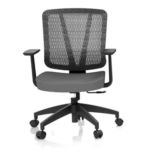 Rauman Kancelárska stolička Casa, antracit, opora chrbta sieťová čierna CASA NET B13