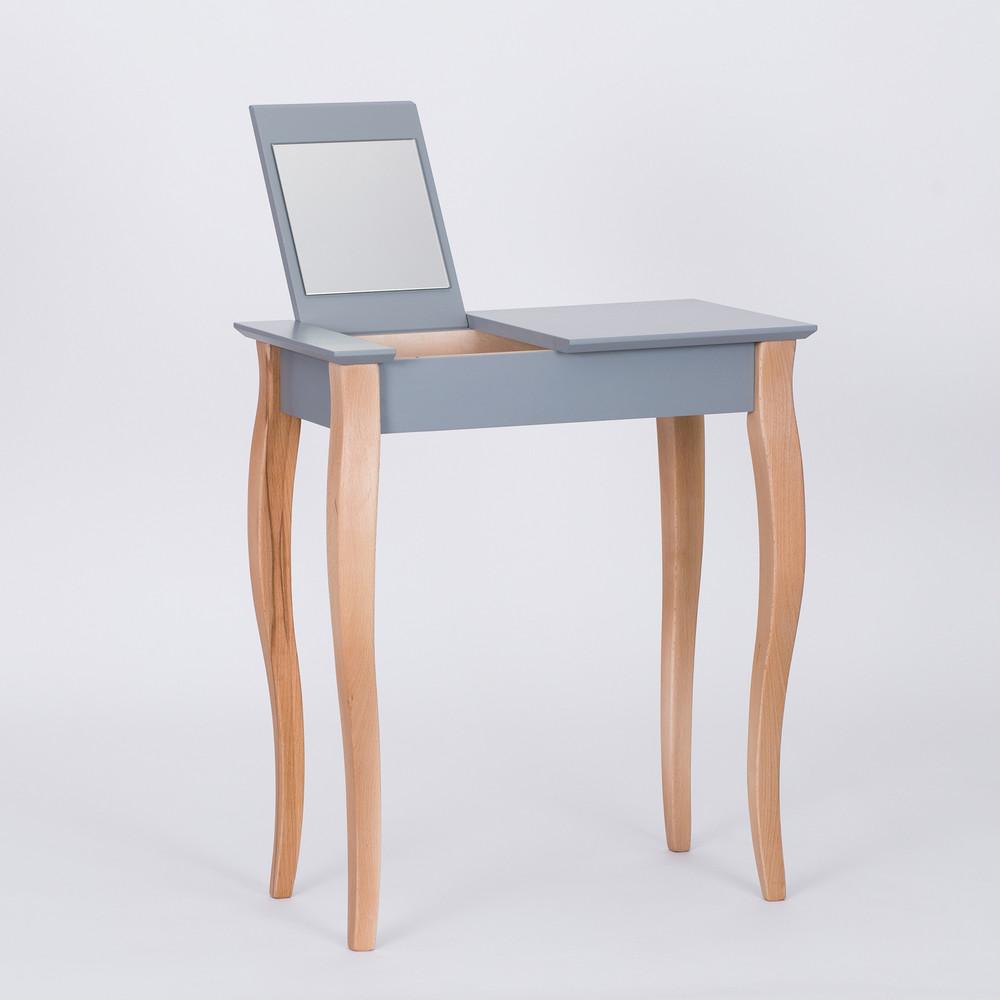 Tmavosivý toaletný stolík sozrkadlom Ragaba Dressing Table,dĺžka65cm