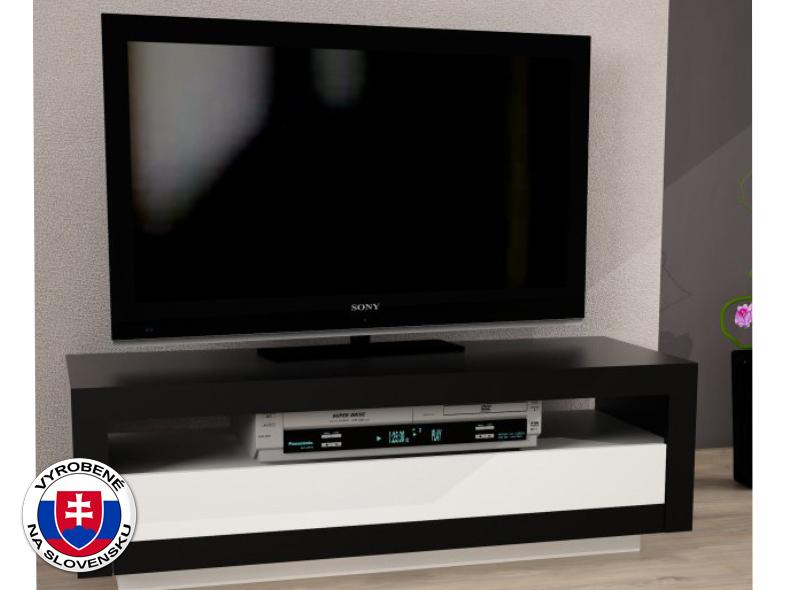 TV stolík/skrinka Agnes (čierna + biela)