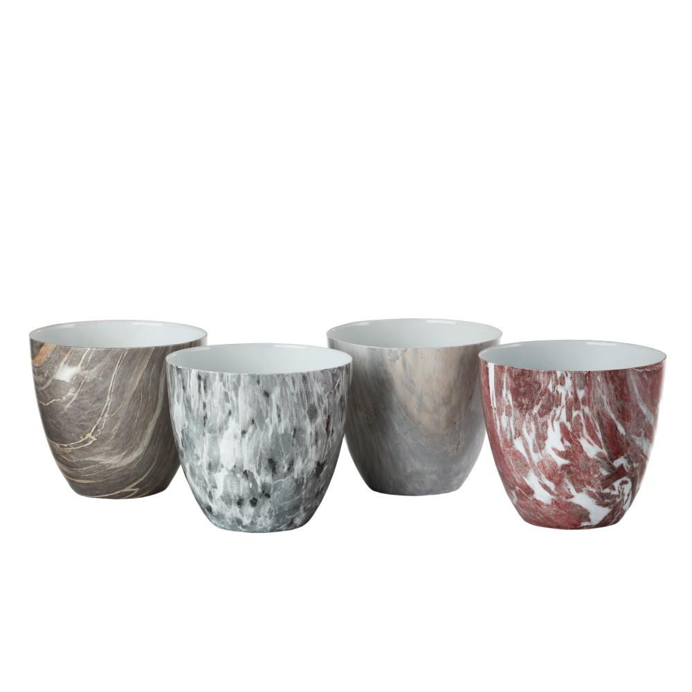 Sada 4 porcelánových svietnikov Pols Potten Marble