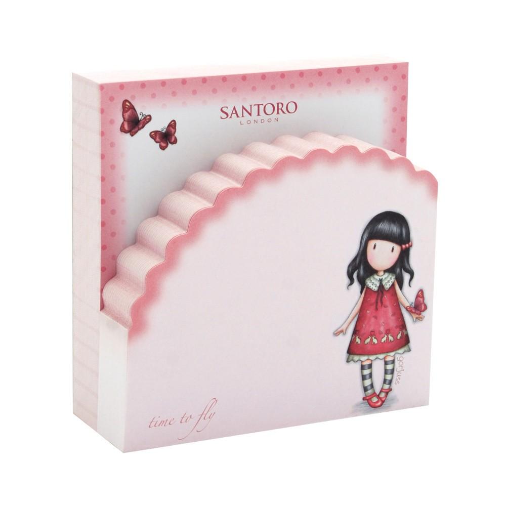 Sada ružových nalepovacích poznámkových bločkov Santoro London Fly