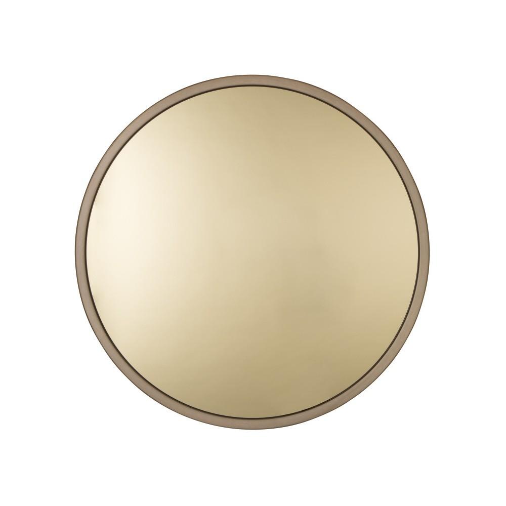 Nástenné zrkadlo v zlatej farbe Zuiver Bandit, Ø 60 cm