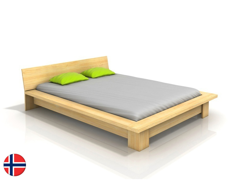Manželská posteľ 180 cm Naturlig Boergund (borovica) (s roštom)
