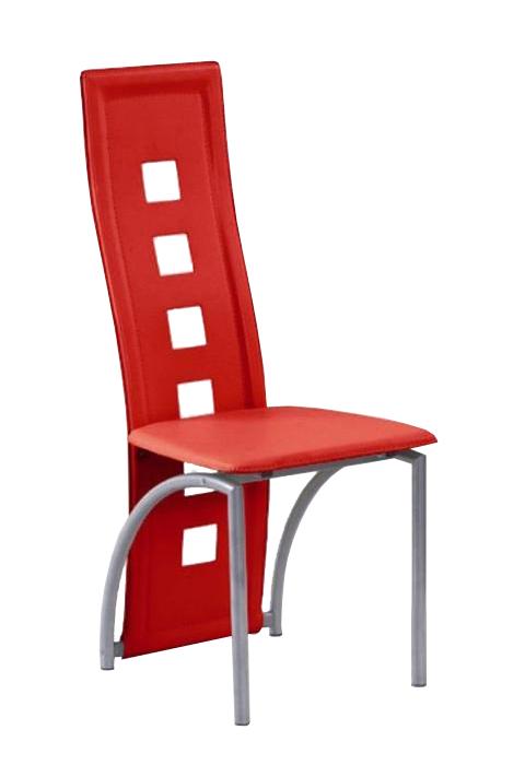Jedálenská stolička K4 M červená