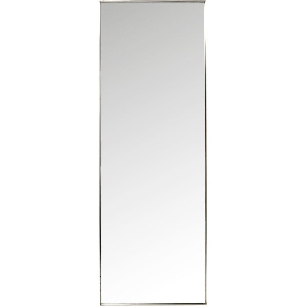 Zrkadlo s rámom v striebornej farbe Kare Design Rectangular, 200 x 70 cm