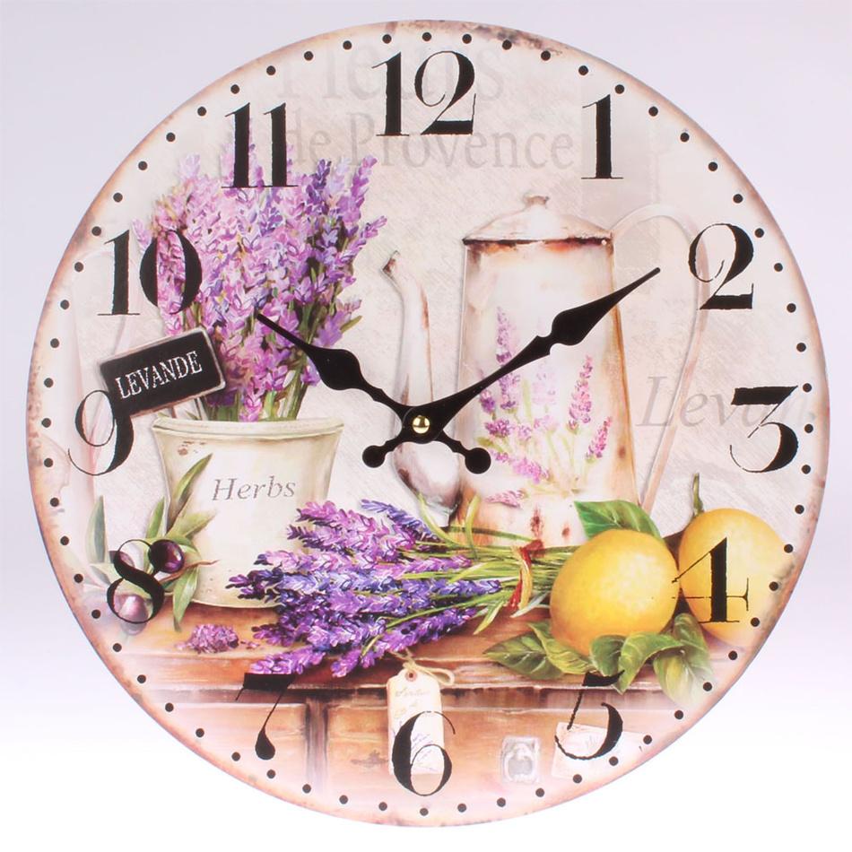 Drevené nástenné hodiny Levande, 34 cm