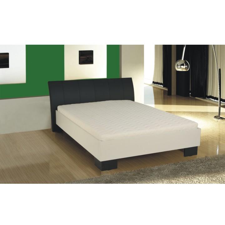 TEMPO KONDELA TALIA 160 manželská posteľ - čierna / biela
