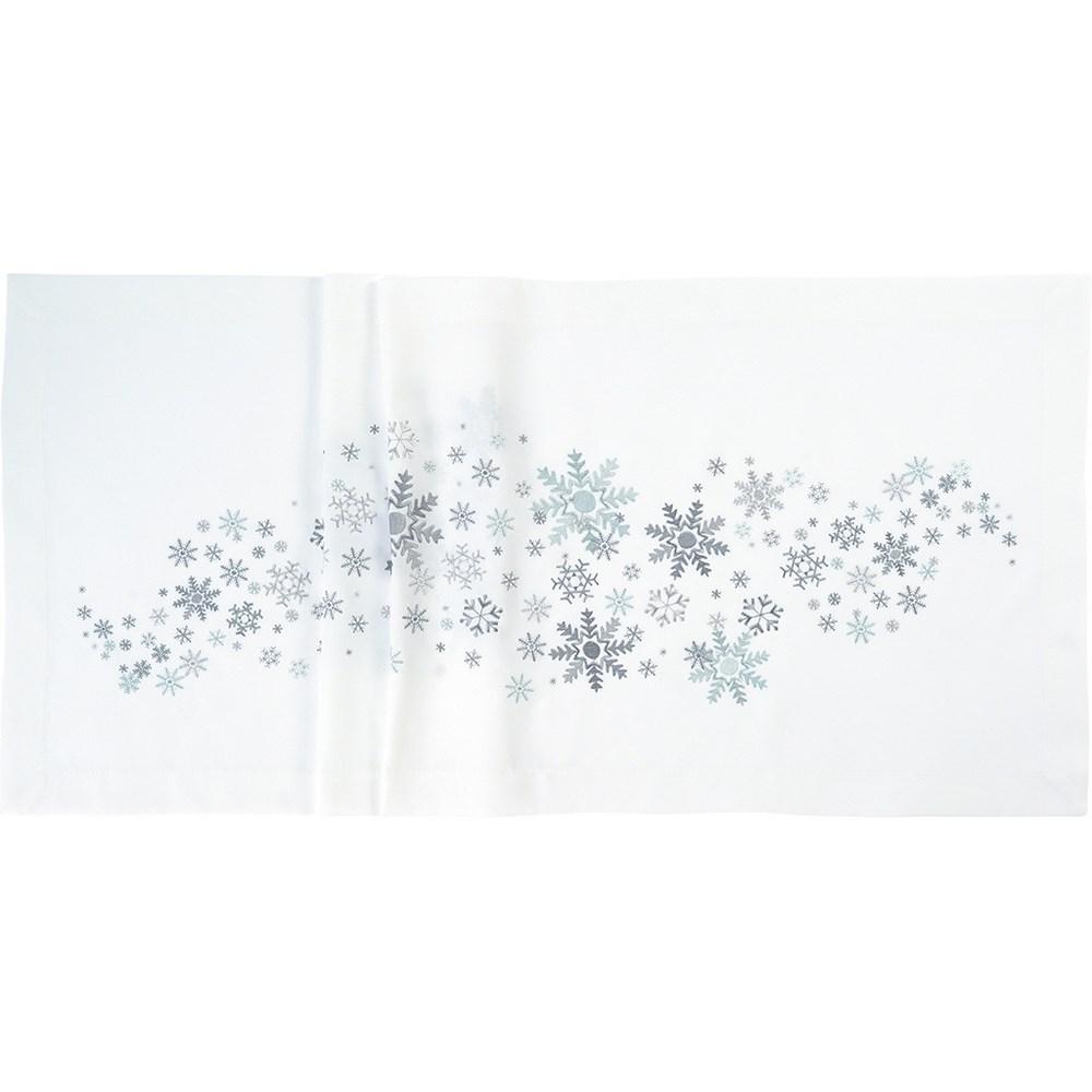 Sander Obrus Crystal medley biela 85 x 85 cm