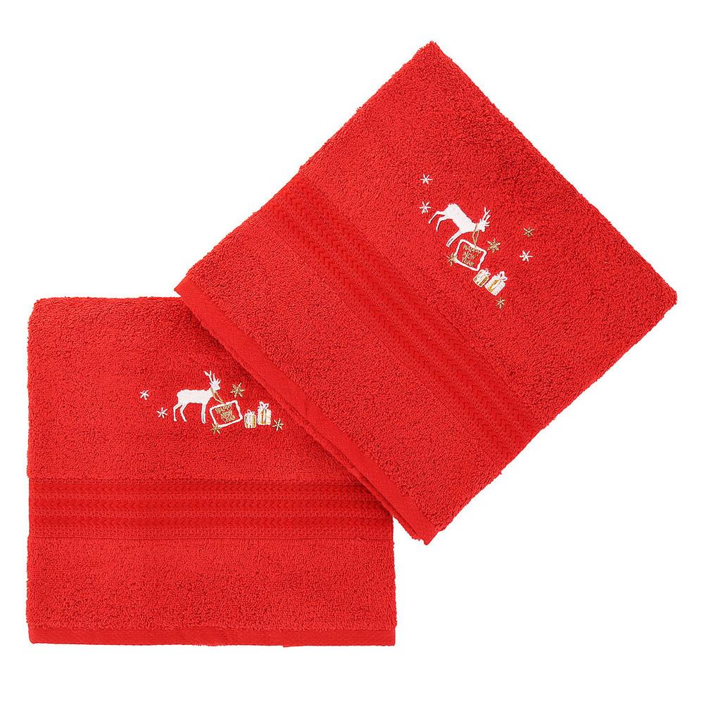 Sada 2 červených uterákov Corap, 50x90cm