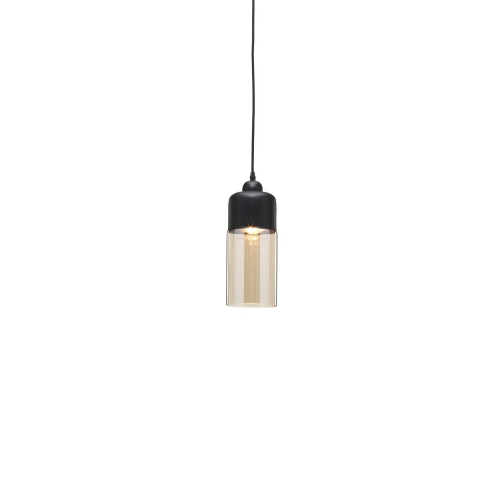 Čierne závesné svietidlo Design Twist Caracol