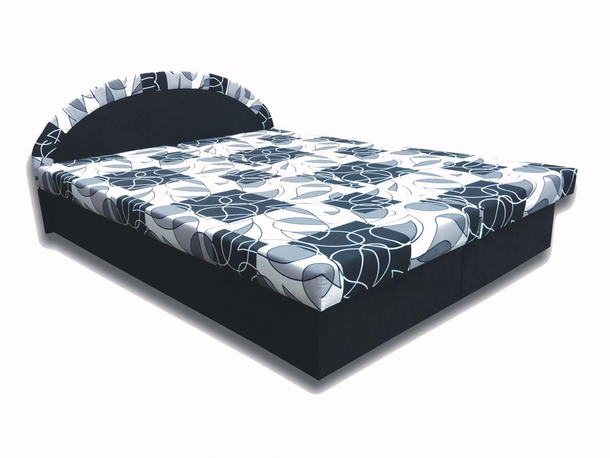 Manželská posteľ 160 cm Elena (čierna) (s matracom)