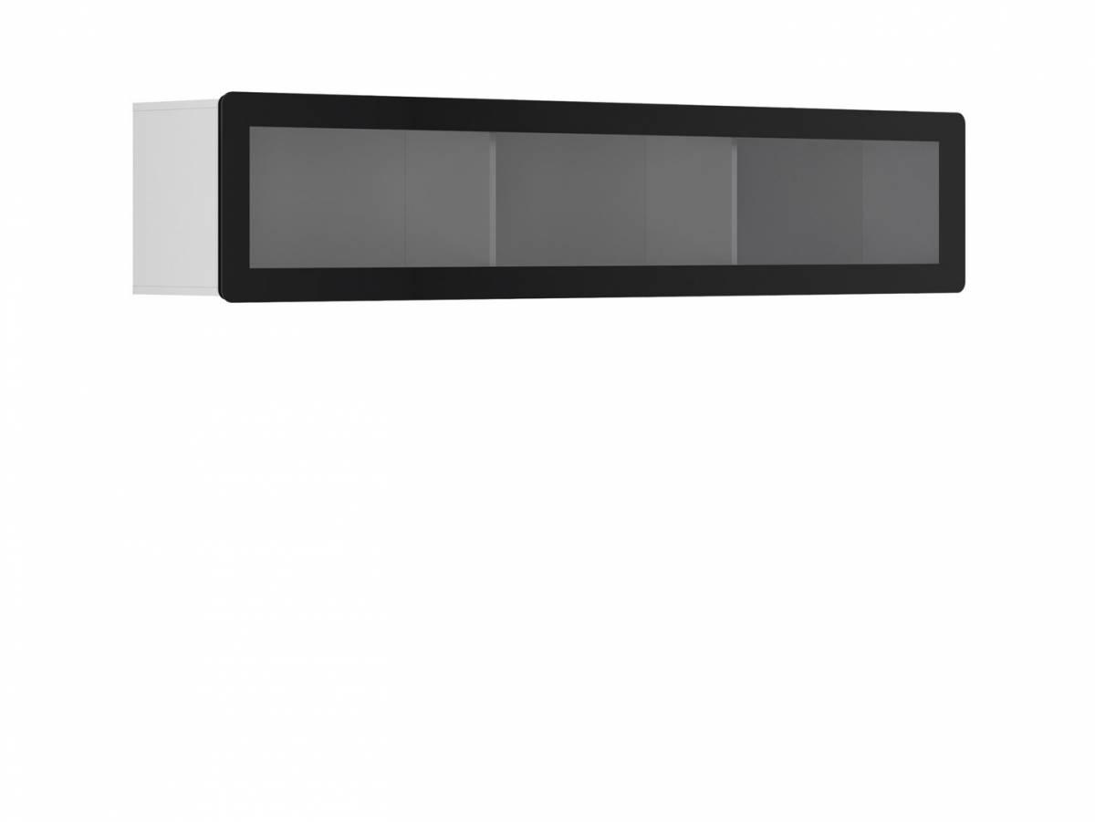 Vitrína na stenu Possi Light SFW1WK/4/20 (biela) (s osvetlením)