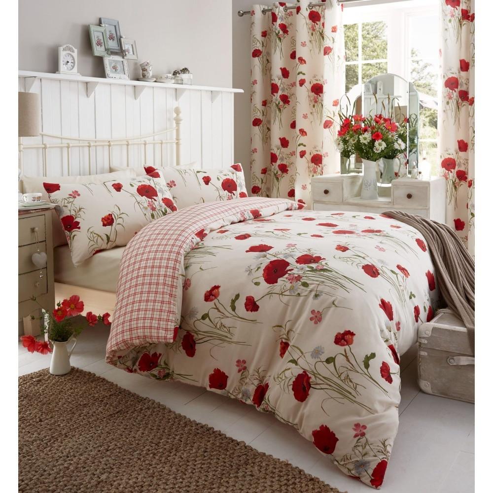 Obliečky Catherine Lansfield Wild Poppies, 135x200cm